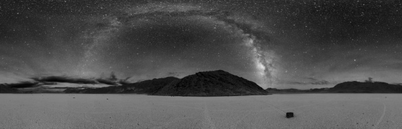 360˚panorama of the Milky Way over Death Valley. Photograph taken by Dan Duriscoe.