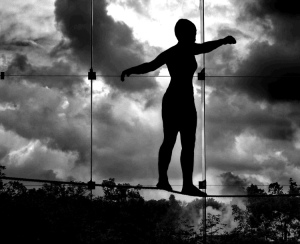 tightrope walker by Kristin Smith