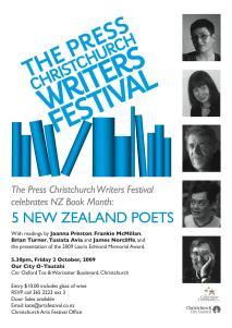 5 NZ Poets 2009
