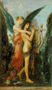 """Hesiod and the Muse"" by Gustave Moreau"