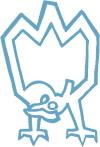 Takahe icon blue small